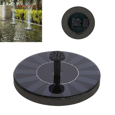 Solar Powered Bird Bath Fountain Pump Free Standing Garden 1.4W Solar Kit NGG