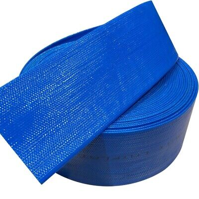 PVC Blue Layflat Lay Flat Hose 1 inch (25mm) 100PSI - 50 metre roll