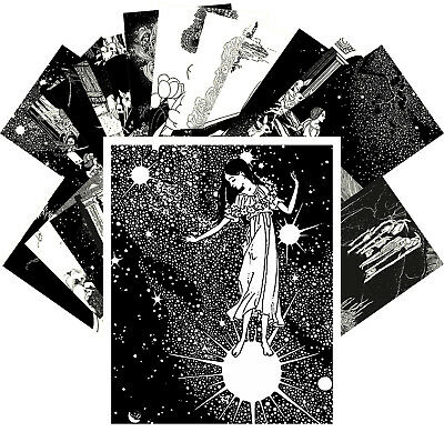 Postcards Pack [24 cards] Fairy and Fantasy Vintage Engravings by Lathrop CC1144