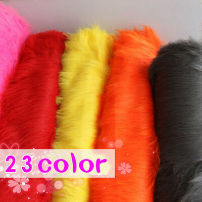 Luxury Long Haired Pile Plush Faux Fur Fabric Jewelry Display Props Room Decor