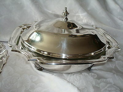 Morton-Parker Silverplate Entree Dish With Ovenproof Glass Liner