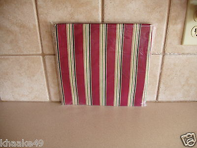"Longaberger Holiday Stripe 36"" Fabric Table Square * Nip * Free Shipping"