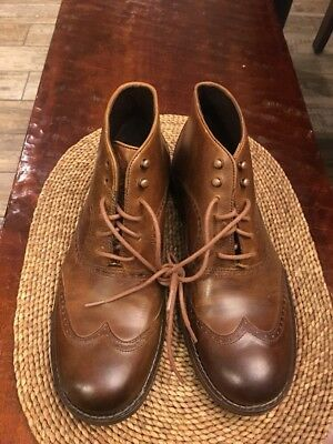 db25cccefdc *NEW* WOLVERINE MENS Wesley 1000 Mile Wingtip Chukka Boot Brown Sz 9 D $246