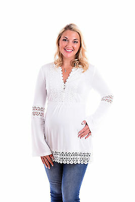 Gorgeous Long Sleeve Lace Maternity Top  S,M,L,XL free shipping