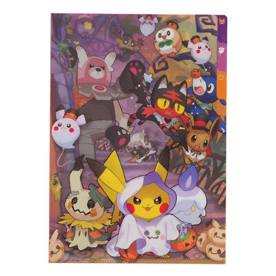 [Japan Pokemon Center Limited] A4 3 Pocket Clear File Pokemon Halloween Time