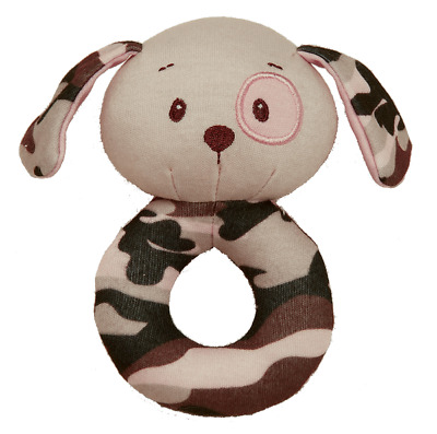 Pink Camo Infant Ring Rattle