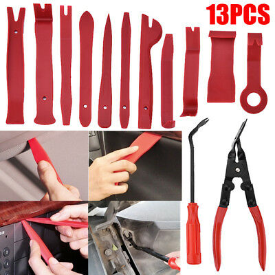 Seal Trim Removal Pry Bar Panel Door Interior Clip Remover With Pliers Tool Kit