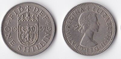 1957 Great Britain 1 shilling Scottish version