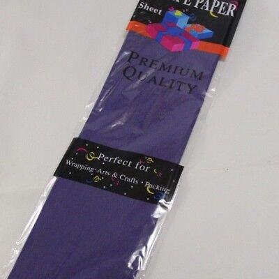 New - Premium Quality Crepe Paper 50Cm X 2M - Purple - Extra Large