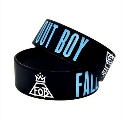 Fall Out Boy rock band music Silicone Rubber Wristband bracelet jewelry
