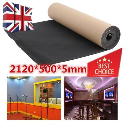 Roll of Closed Cell Foam Noise Insulation SoundProof For Home Studio Vehicle Car