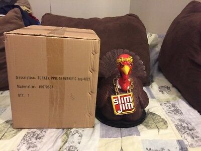 Factory Sealed Slim Jim Counter Display Gangster Turkey Edition (Rare)