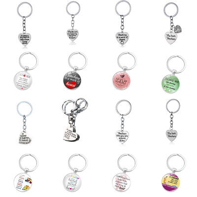 Fashion Keyring Keychain Key Chain Jewelry Teacher Cartoon Apple Heart Love Xmas