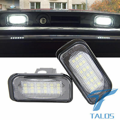 2x LED Licence Number Plate Light Benz W203 Saloon R230 Convertible C209 Coupe