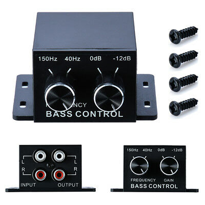 Auto Car Audio Amplifier Bass Boost RCA Gain Level Remote Volume Control Knob