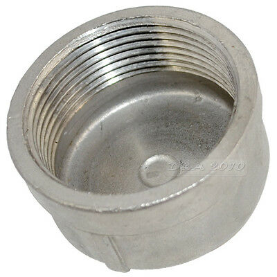 "1 Piece 1-1/2"" Cap Female Stainless Steel SS304 Threaded Pipe Fitting BSPT NEW"