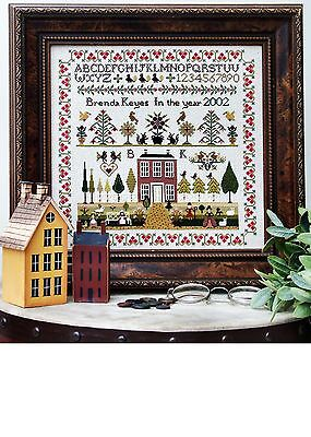 Sampler Chart - COUNTRY HOUSE - The Sampler Company. Counted Cross Stitch. New