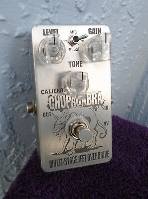 Caliente Chupacabra Multi-Stage JFET Overdrive Pedal - British or Marshall SIM