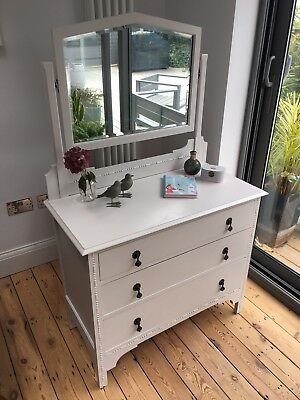 Beautiful Hand Painted Vintage Shabby Chic Antique Dressing Table Farrow & Ball