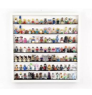 LEGO Minifigure Large Display Case Frame Gift Holds over 100 figures White
