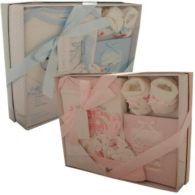Baby Boy,Girl, Gift Box Set Shower Present Photo Album Hat Bodysuit & Booties