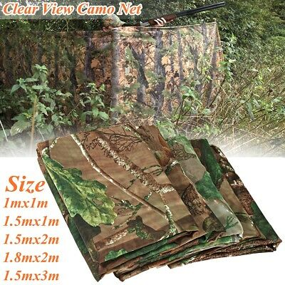 Clear View Camouflage Camo Net Hide Netting Pigeon Decoy Hunting Shoot Woodland
