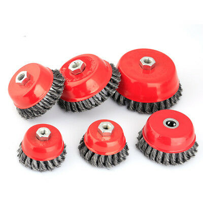 75mm 100mm Steel Wire Cup Brush Wheel Twist Knot Knotted Wheels Angle grinder