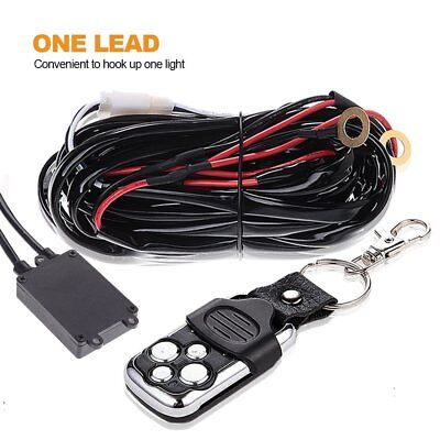 40A 12V 1Lead Wiring Kit With Wireless Remote Control for LED Light Bar ATV SUV