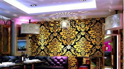 Floral gold foil wall paper roll embossed background wallpaper for living room