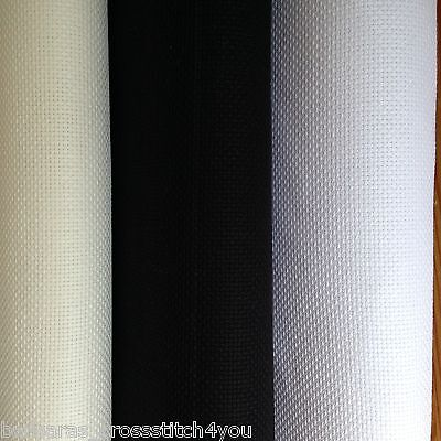 14ct DMC WHITE BLACK OR ECRU AIDA FABRIC 1m OR 1/4m