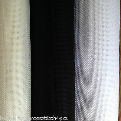 14ct DMC WHITE or BLACK AIDA FABRIC 1m OR 1/4m