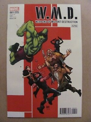 Weapons of Mutant Destruction Alpha #1 Marvel 2017 One Shot Variant 9.6 NM+