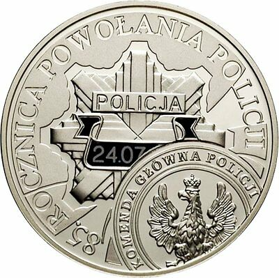 2004 POLAND 10zl proof SILVER the 85th Anniversary of Establishing the Police