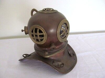 Superb Vintage Copper And Brass Divers Helmet. Vgc
