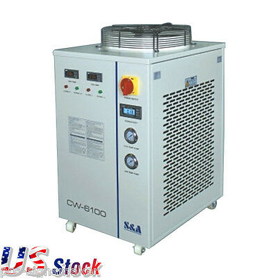 USA Stock CW-6100BTH Industrial Water Chiller Dual Temp 220V Water Chiller