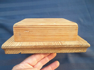 Salvaged Early 1900's Square Pine Newel Post Cap / Topper Part Free S/H