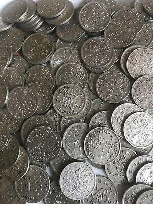 Lucky Silver Sixpence Coins