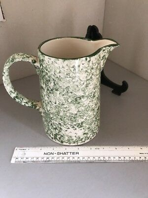 Poole Pottery Green Stipple 3 Pint Pitcher Table Jug