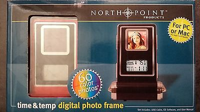 """(NEW) 1.4"""" LCD Display Digital Photo Frame with Backlight, Time, Temperature"""