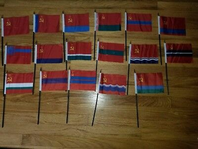 Soviet Republic flags USSR СССР 17 piece set SSR SFSR