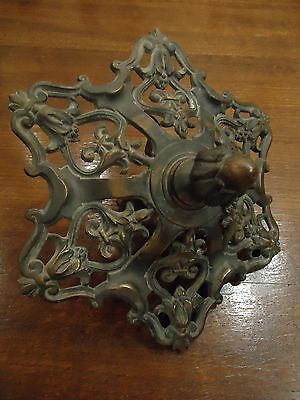 1900ca ANTIQUE FRENCH BRONZE CANOPY CHANDELIER PART CEILING GREAT ORNAMENTATION