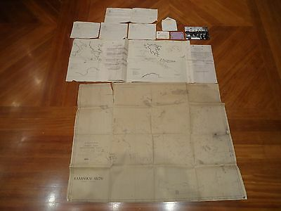 Wwii Greek Map Battle Of Cape Matapan Sea Mine Map British Italian Navy ++ More