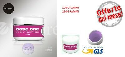 GEL UV BASE ONE VIOLET THICK 100g /250g MADE IN ITALY SILCARE OFFERTA DEL MESE