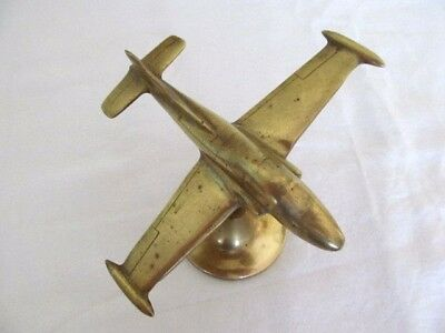Superb Unusual Antique Brass Provost Jet Aeroplane Ornament,sculpture.trench Art