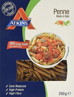 Atkins Low Carb, High Protein Penne Pasta, 250g (5 Servings)
