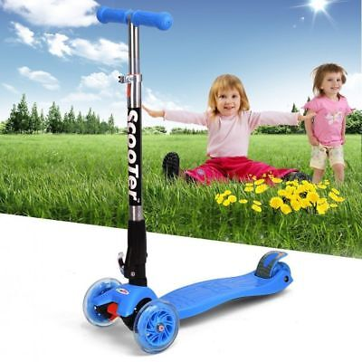 Height Adjustable Aluminum Kids Folding Scooter Kick Scooter with Flashing Wheel