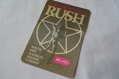 RUSH Original 1981 CONCERT PROMO STICKER__Madison Square Garden, NYC