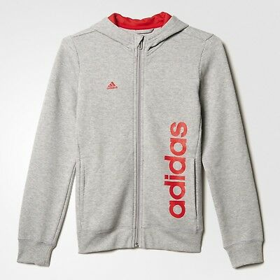 adidas girls zip up grey hoody. Tracksuit top. Hoodie. Sweat top. Various sizes!