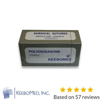 Veterinary PDS, PDO Polydioxanone Size 2/0 30mm RC, Box of 12 | KeeboMed