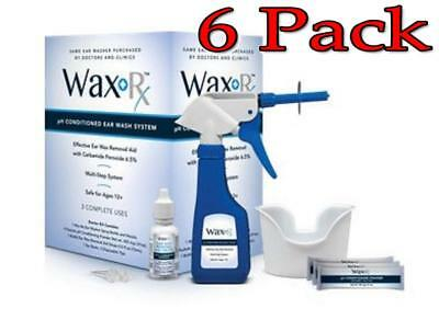 Doctor Easy Wax-Rx pH Conditioned Ear Wash System, 6 Pack 783349000299A2263